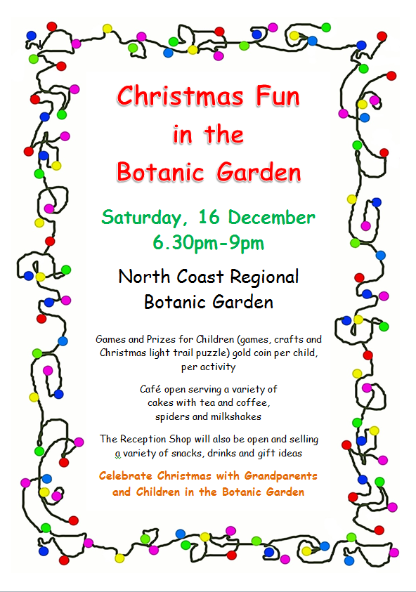 Guest post: North Coast Regional Botanic Garden Christmas